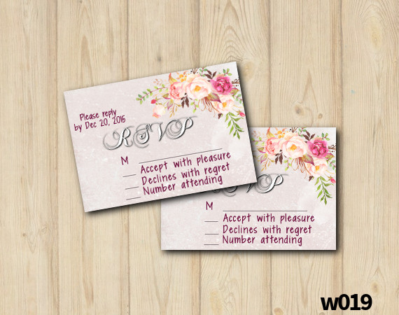 Watercolor Wedding RSVP | Personalized Digital Card