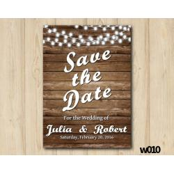 String Lights Wedding Save the Date