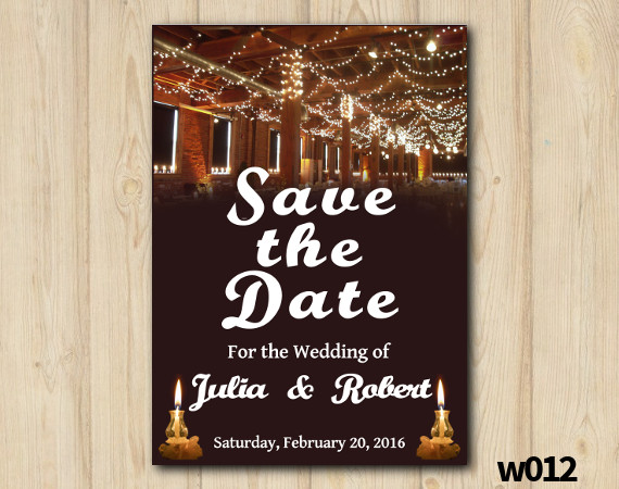 String Lights Wedding Save the Date   Personalized Digital Card