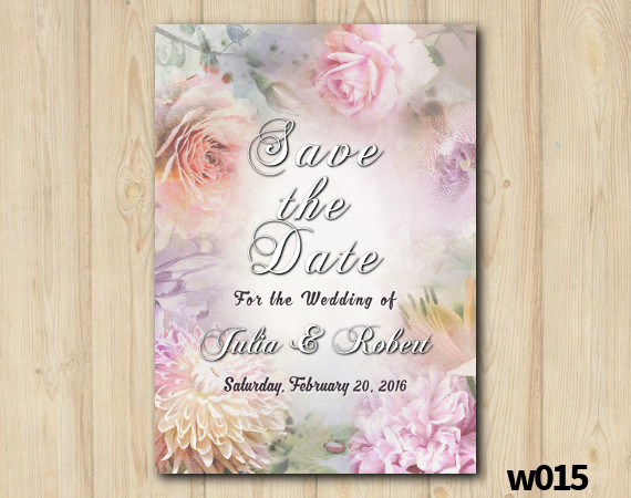 Floral Wedding Save the Date | Personalized Digital Card