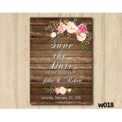 Watercolor Wood Wedding Save the Date