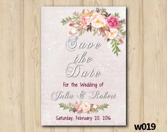 Watercolor Wedding Save the Date | Personalized Digital Card
