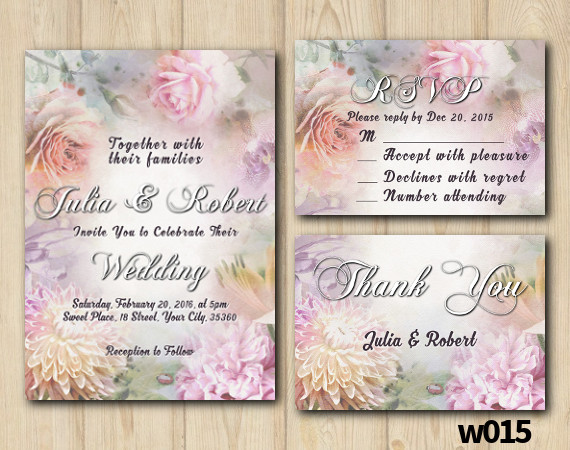 Floral Wedding Set | Personalized Digital Card