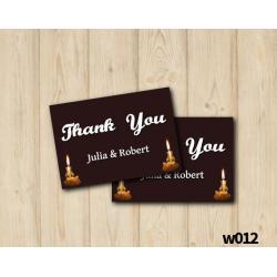 String Lights Wedding Thank you Card