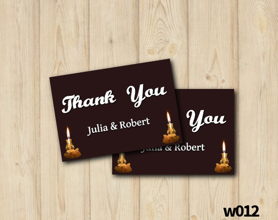 String Lights Wedding Thank you Card | Personalized Digital Card