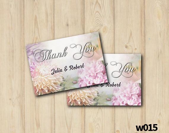 Floral Wedding Thank you Card | Personalized Digital Card