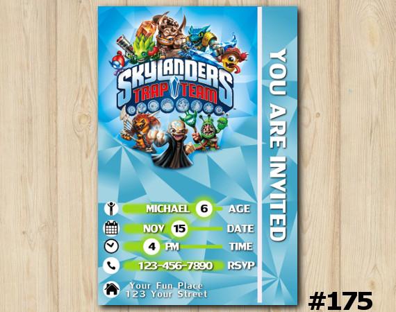 Skylanders Birthday invitation